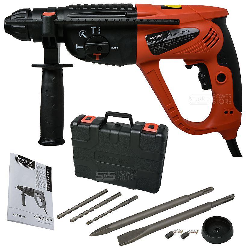 sds bohrhammer matrix ehd 1050 watt mei elhammer schlagbohrer schlagohrmaschine ebay. Black Bedroom Furniture Sets. Home Design Ideas